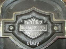 Vintage Genuine Harley Sportster Dyna Fxr 12 Backrest Sissy Bar & Shield Pad