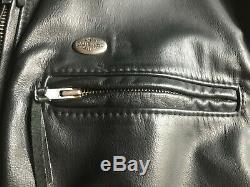 Vintage Hommes Harley Davidson Veste Noire En Cuir M Basic Skins Mint Bar Shield