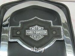 Vintage Oem'85 Harley Fxr Dossier Sissy Bar Barre Verticale Barre & Bouclier Emblème