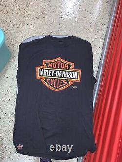 Vtg Harley Davidson Bar & Shield 3d Emblem Chemise Lightning Travis Scott Flame