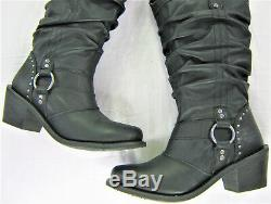 Womens Bottes En Cuir Harley Davidson 7 Traction Noire Jana D83562 Sur Zip Bouclier De Bar