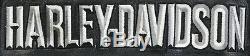 Womens Bouclier Harley Barre Noire Veste En Cuir Davidson M Doublure Café Doux Zip Guc