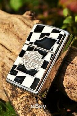 Zippo Harley Davidson Checkered Flag Autorité Européenne N ° 1 Bar Shield