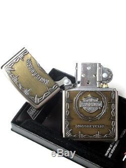 Zippo Harley Davidson Japan Limited Nickel Antique Brass Bar Shield Métal Hdp-67