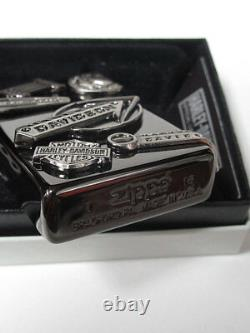 Zippo Harley Davidson Japon Limited Black Nickel Skull Bar Shield Metal Hdp-62