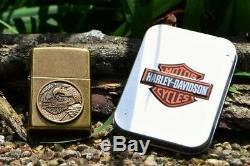 Zippo Harley Davidson Made In USA Aigle Bar & Shield 201fb H230