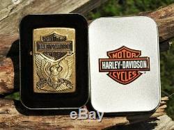 Zippo Harley Davidson Made In USA Aigle Bar & Shield 204bhd H283