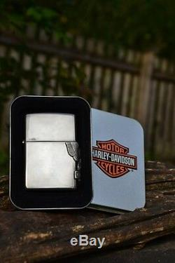 Zippo Harley Davidson Side Mount Eagle Bar And Shield M250hd H141