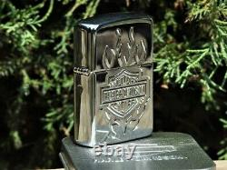 Zippo Lighter Harley Davidson Tattoo Bar And Shield Armor 24029
