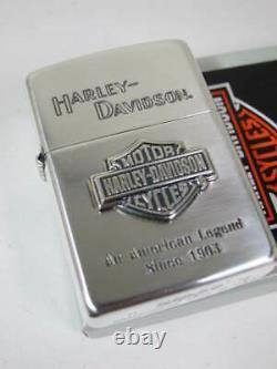 Zippo Oil Lighter Harley Davidson Hdp-09 Bar And Shield Logo Argent Japon Nouveau